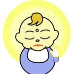 仏の様な赤ちゃん